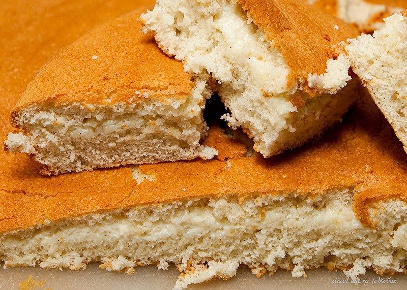бисквит с заварным кремом